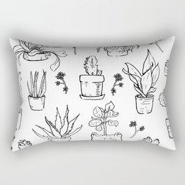 A Series of Plants Rectangular Pillow