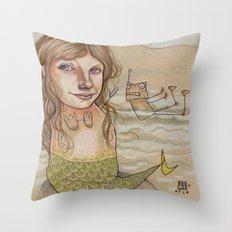 ROBOT SIREN Throw Pillow