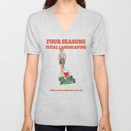 Four Seasons Total Landscaping (Pink) Unisex V-Neck