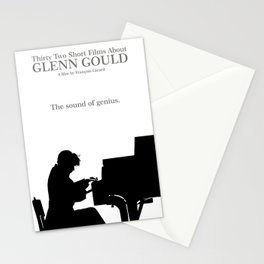 Glenn Gould, Thirty two short films about Glenn Gould,  François Girard, music poster, piano design Stationery Cards