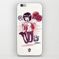 boobs iPhone & iPod Skins featuring The Unbelievable AntGrav Boobs by Thecansone