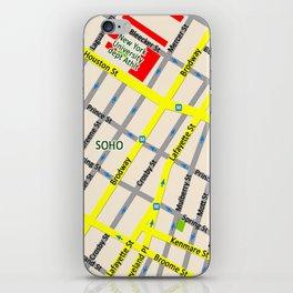 NEW YORK map design - SOHO area iPhone Skin