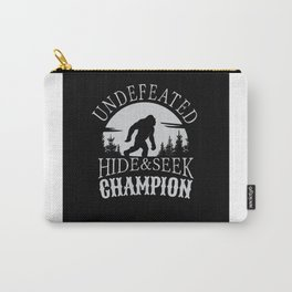Undefeated Hide & Seek Champion Bigfoot Carry-All Pouch
