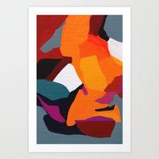 Jigsaw Abstract Art Art Print