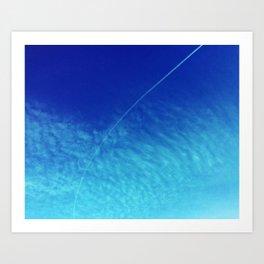 Curving Clouds Art Print