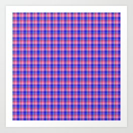 Pink Blue Scottish Tartan Art Print