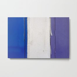 Blue White Blue Metal Print