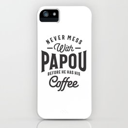 Mens Papou Grandpa Gifts Worlds Greatest Papou T-shirt iPhone Case
