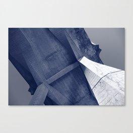 Bridge Belly in Blue Canvas Print
