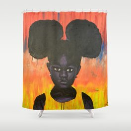 BLACK GIRL LOST Shower Curtain