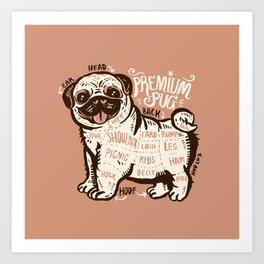 Anatomy of pug Art Print