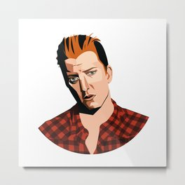 Josh Homme, Queens of the Stone Age, Vecto Metal Print