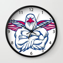 hawk spreading the wings Wall Clock