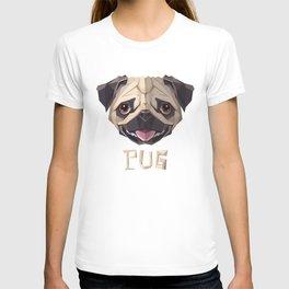 Triangular Geometric Pug Head T-shirt