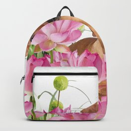 Dog in Field of Lotos Flower Backpack