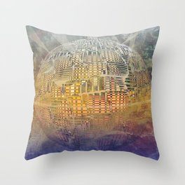 Atlante 11-06-16 / SUBAQUATIC - AERIAL Throw Pillow