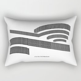 Frank - A is for Architecture Rectangular Pillow