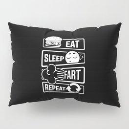 Eat Sleep Fart Repeat | Farting Flatulence Smell Pillow Sham