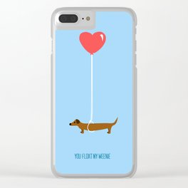 You Float My Weenie Clear iPhone Case