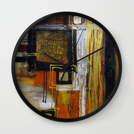 Golden Indulgence Wall Clock