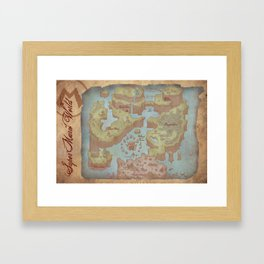 Super Mario World Map (Vintage Style) Framed Art Print