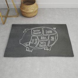 Pork Butcher Diagram (Pig Meat Chart) Rug