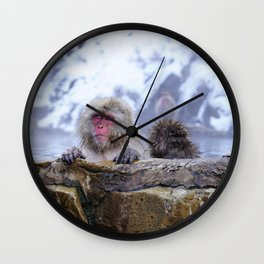 Jigokudani Monkey Park (Japan) Wall Clock