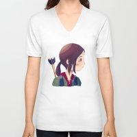 ellie goulding V-neck T-shirts featuring Ellie by Nan Lawson