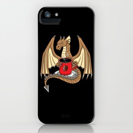 Coffee Dragon For Coffee Lovers iPhone Case