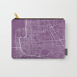 Baton Rouge Map, USA - Purple Carry-All Pouch