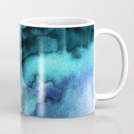 Abstract teal purple watercolor Coffee Mug