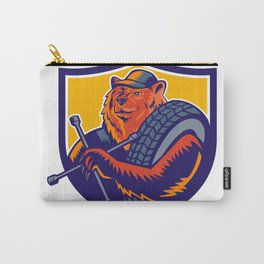Bear Tireman Crest Carry-All Pouch
