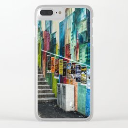 Basel Walls Clear iPhone Case