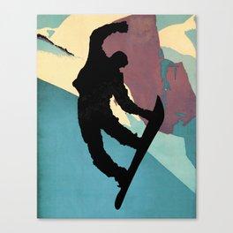 Snowboarding Dude Method Grab Canvas Print
