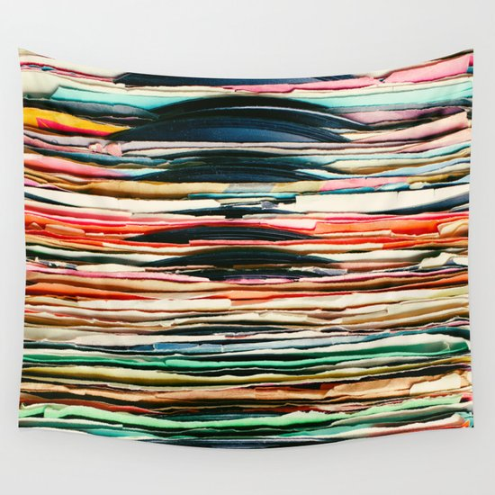 Vintage Vinyl Wall Tapestry By Laura Ruth
