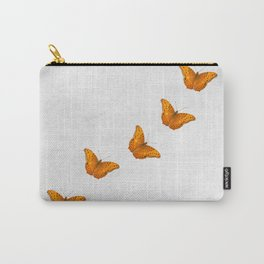 Beautiful butterflies on a textured white background Carry-All Pouch