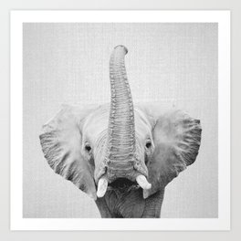 Elephant 2 - Black & White Art Print