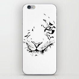 Tiger - black and white iPhone Skin