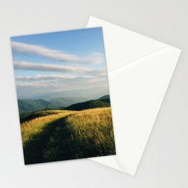 Trail through the mountains Stationery Cards
