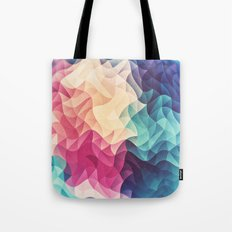 Geometry Triangle Wave Multicolor Mosaic Pattern - (HDR - Low Poly Art) - FULL Tote Bag