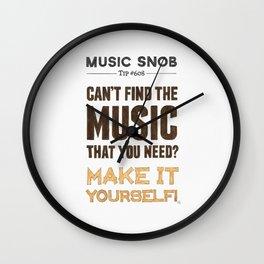 D. I. Y. — Music Snob Tip #608 Wall Clock