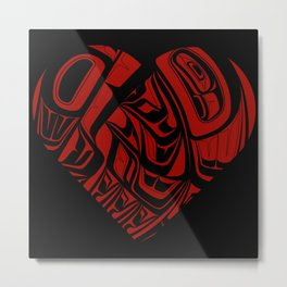 Salish Eagle Heart Metal Print