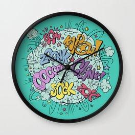 comic brawl Wall Clock