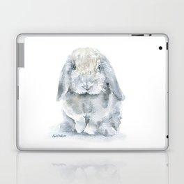 Mini Lop Gray Rabbit Watercolor Painting Laptop & iPad Skin
