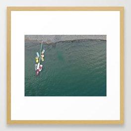 Aerial Sea of Galilee Framed Art Print