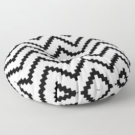 Tribal Chevron W&B Floor Pillow