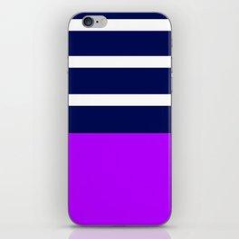 Summer Patio Perfect, Purple, White & Navy iPhone Skin