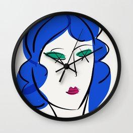L'amour est à la mode Illustration Portrait Minimalist Art Wall Clock