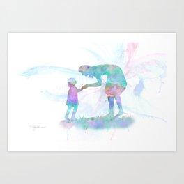 10839 Mom and Me Art Print