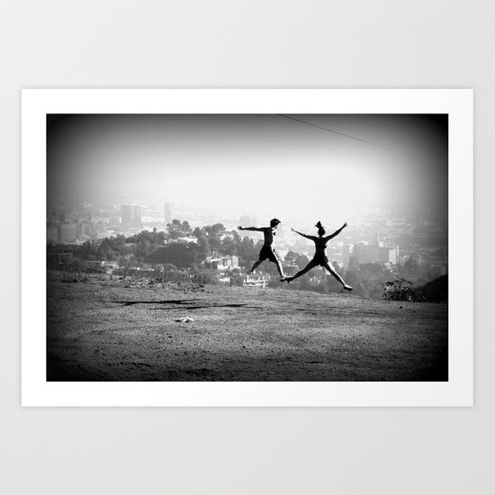 Jump to the sky Art Print